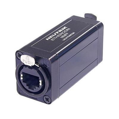 Neutrik etherCON RJ45 feedthrough coupler for cable extensions Kabel adapter - Zwart