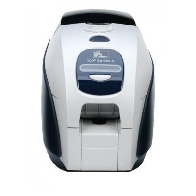 Zebra plastic kaart printer: ZXP3 - Zwart, Wit