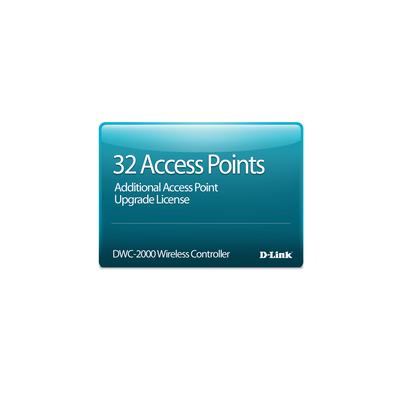 D-Link DWC-2000-AP32-LIC softwarelicenties & -upgrades