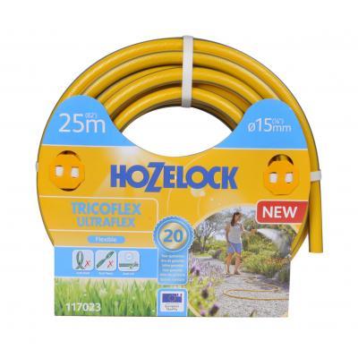 Hozelock tuinslang: Tricoflex Ultraflex slang Ø 15 mm 25 meter - Grijs, Geel