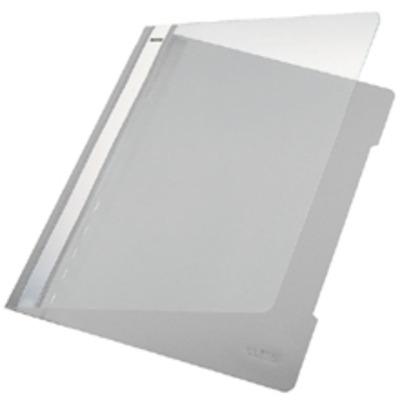 Leitz Standard Plastic File Grey A4 PVC (25) Stofklepmap - Grijs