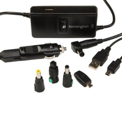 Dell netvoeding: Wissel-/gelijkstroomadapter voor in de auto/het vliegtuig - Zwart