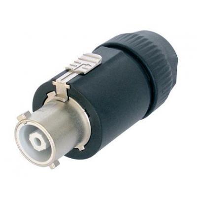 Neutrik kabel connector: Socket, PowerCon 32A 2+PEP - Zwart