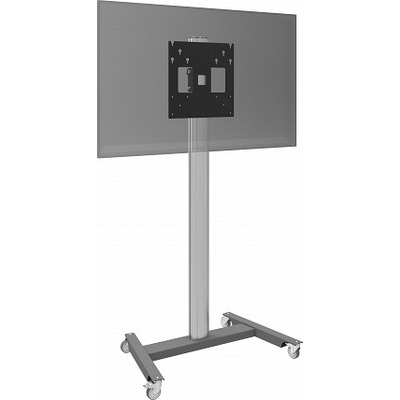 SmartMetals Statief op wielen (light) incl. bracket max. VESA 400 TV standaard - Aluminium,Grijs