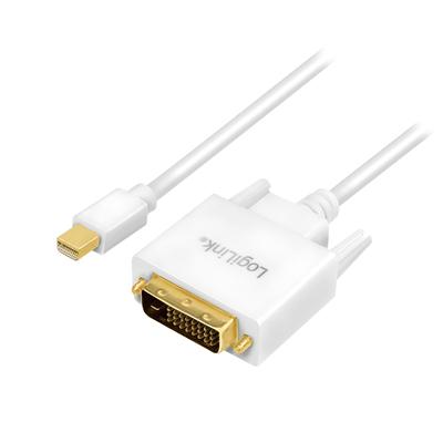 LogiLink DisplayPort, DVI, white, 1.8m - Wit