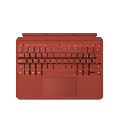 Microsoft Surface Go Type Cover - AZERTY Mobile device keyboard - Rood