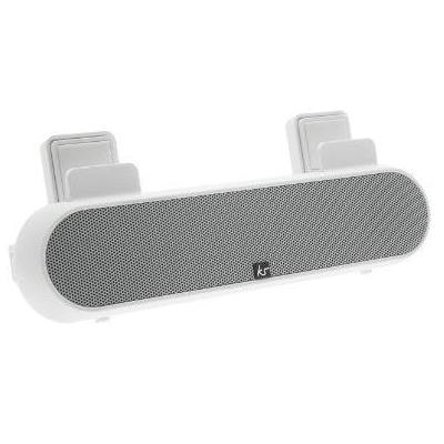 Kitsound MP3 speaker: Tablet and Smartphone Surround Sound Sound Stand, White - Wit