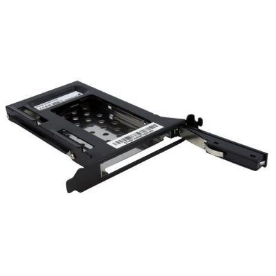 Startech.com drive bay: 2,5 inch SATA Verwisselbare Harde Schijf Bay voor PC Uitbreidingsslot - Zwart