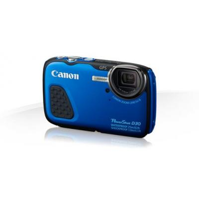 Canon digitale camera: PowerShot D30 - Blauw