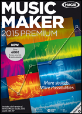 Magix audio software: Music Maker 2015 Premium (download versie)
