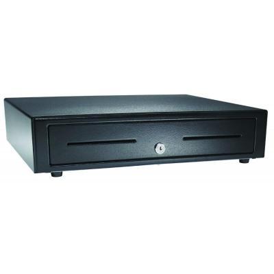 Apg cash drawer geldkistlade: 8xCoin, 4xNote, USB, Black - Zwart