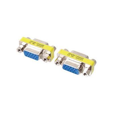 Valueline kabel adapter: Female-Female, VGA 15-pin D-Sub-VGA 15-pin D-Sub - Zilver