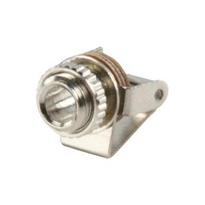 Valueline kabel connector: Jack Mono Female 3.5mm, Silver - Zilver