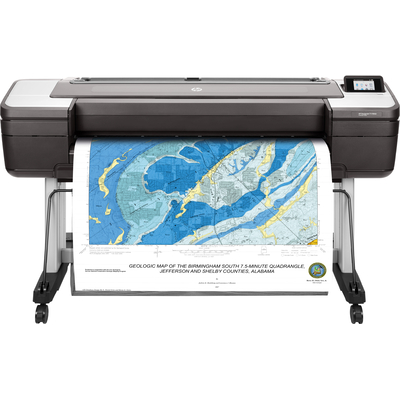 Hp grootformaat printer: Designjet T1700dr - Cyaan, Grijs, Magenta, Mat Zwart, Foto zwart, Geel