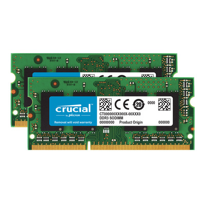 Crucial 8GB PC3-12800 Kit RAM-geheugen