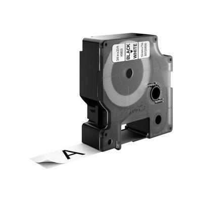 DYMO D1 -Standard Labels - Black on White - 19mm x 7m Labelprinter tape