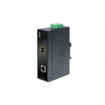 ASSMANN Electronic Industrial Managed Gigabit Ethernet RJ45 / SFP Media converter - Zwart