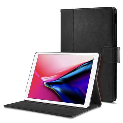 Spigen iPad 9.7'' (2018/2017) Case Stand Folio, Black Tablet case - Zwart