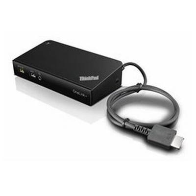 Lenovo docking station: ThinkPad OneLink+ Dock - Zwart