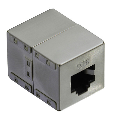 Value RJ-45 koppelstuk, afgeschermd, Cat.6 Kabel connector - Zilver
