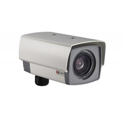 Acti beveiligingscamera: KCM-5211E - 18x Zoom H.264 4-Megapixel IP IR D/N PoE Outdoor Box Camera - Grijs