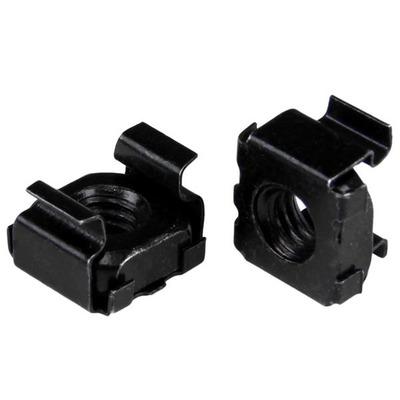 StarTech.com M5 kooimoeren 100 stuks pak zwart M5 montage moeren voor serverkast en rack