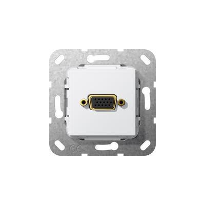 GIRA Basiselement VGA 15-polig Koppeling, zuiver wit glanzend wandcontactdoos