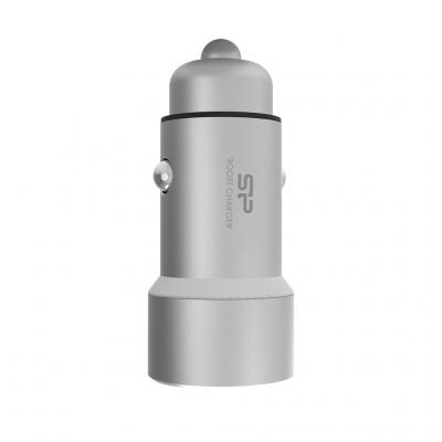 Silicon Power Auto Lader 2 ports 3,6A Silver Oplader - Zilver