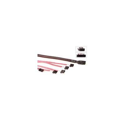 Advanced cable technology kabel: Mini SAS 36 - 4x Mini SATA7 female + IDC8 female