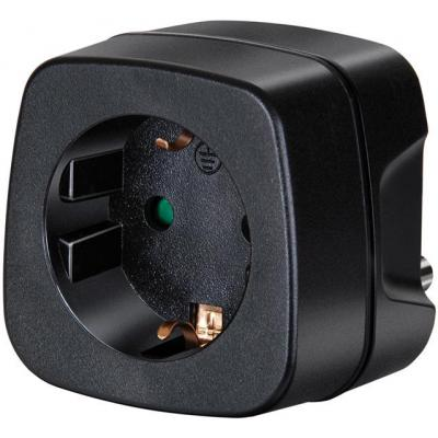 Brennenstuhl netvoeding: Travel Adapter earthed/South Africa, India earthed / South Africa, India - Zwart