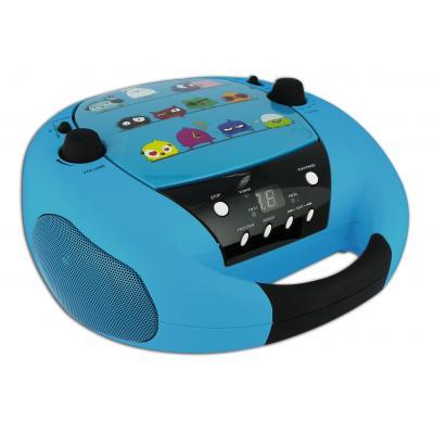 Bigben interactive CD-radio: Portable radio / CD speler met vogeltjes - Zwart, Blauw