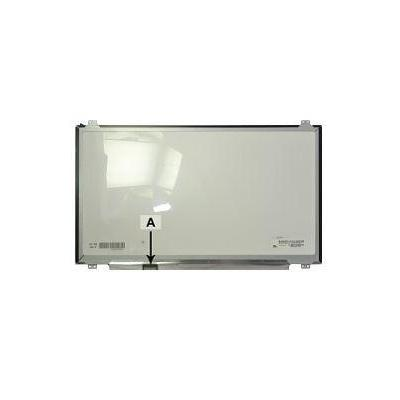 """2-power notebook reserve-onderdeel: 43.942 cm (17.3 """") 1920x1080 FullHD LED Glossy - Zwart, Grijs"""