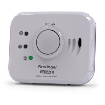 Fireangel gasmelder: 868 MHz, 35 m, 85 dB, 3V DC, 114x94.5x40 mm, 190 g - Wit