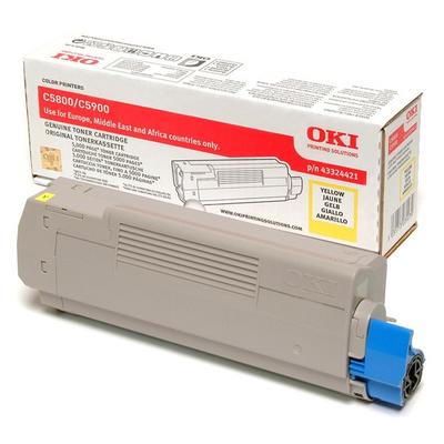 OKI cartridge: Tonercartridge voor C5800/C5900, Geel