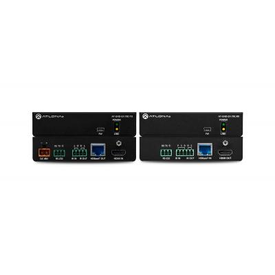 Atlona 4K/UHD HDMI Over HDBaseT TX/RX with Control and PoE, CAT5e/6/6a/7, HDMI, 10.2 Gbps, HDCP 2.2, 25x109x89 mm .....