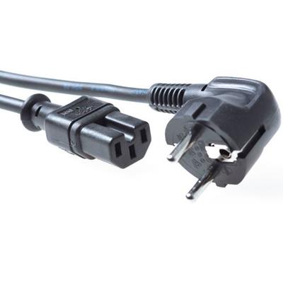 ACT 230V aansluitkabel schuko male (haaks) - C15 zwart Electriciteitssnoer