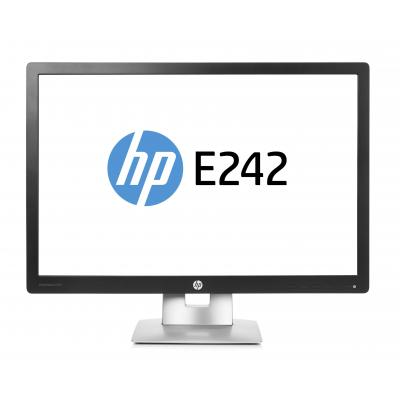 Hp monitor: EliteDisplay E242 - 24'' Full HD - Zwart, Zilver