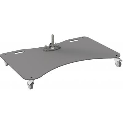 """SmartMetals Trolley-vloerplaat (extra zwaar) t/m 165.1 cm (65"""") , enkele uitvoering (met pin) AV stand ....."""