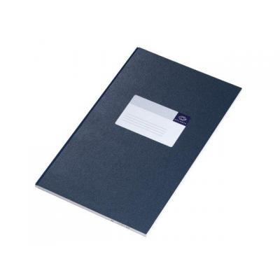 Atlanta schrijfblok: Notitieboek gelijmd - Blauw