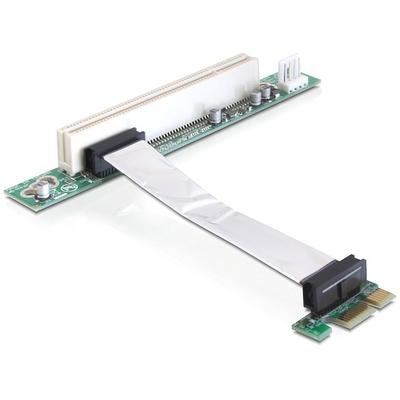 DeLOCK Riser card PCI Express x1 > PCI 32Bit 5 V with flexible cable 9 cm left insertion Slot expander