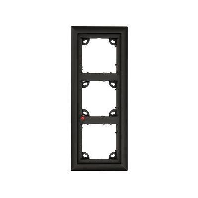 Mobotix inbouweenheid: OPT-FRAME3-BL\T24M Triple door Frame\Black - Zwart