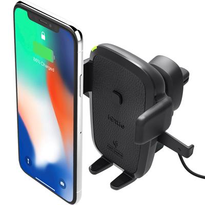 IOttie Easy One Touch Wireless Fast Charging Air Vent Mount - Zwart / Black Houder