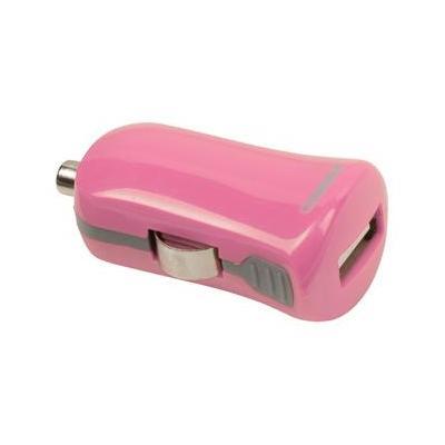 Valueline USB car charger, USB A female - 12 V car connector, pink Oplader - Roze