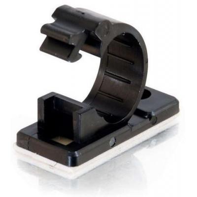 C2g kabelklem: 17mm Cable Clamp, 50pk, Black - Zwart