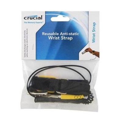 Crucial anti-statische polsband: ESD Reusable Wriststrap - Zwart, Geel
