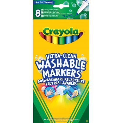 Crayola verf stift: 8 Viltstiften dunne punt Ultra-Clean - Multi kleuren