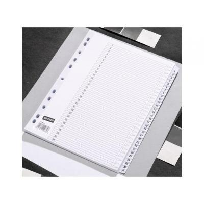 Staples schutkaart: Tabblad SPLS A4 11r 1-31 karton wit/se31