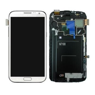 Samsung mobile phone spare part: GT-N7100 Galaxy Note 2, complete display, touchscreen, white