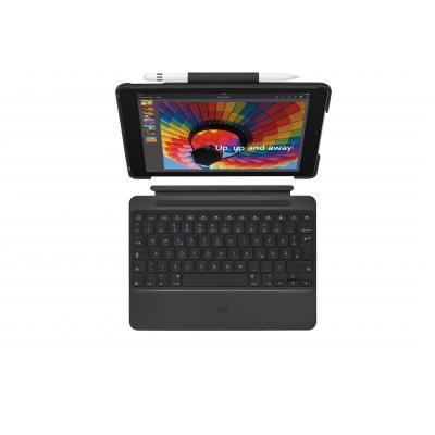 Logitech mobile device keyboard: Slim Combo - Zwart, QWERTZ