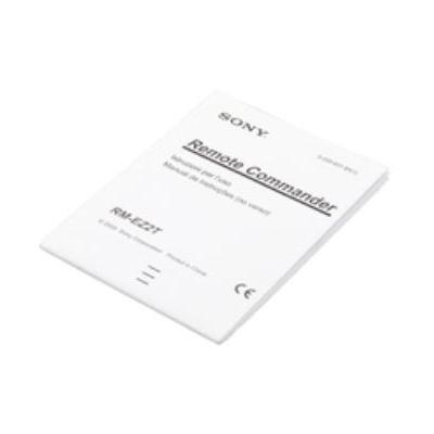 Sony boek: Instruction Manual for RM-EZ2T